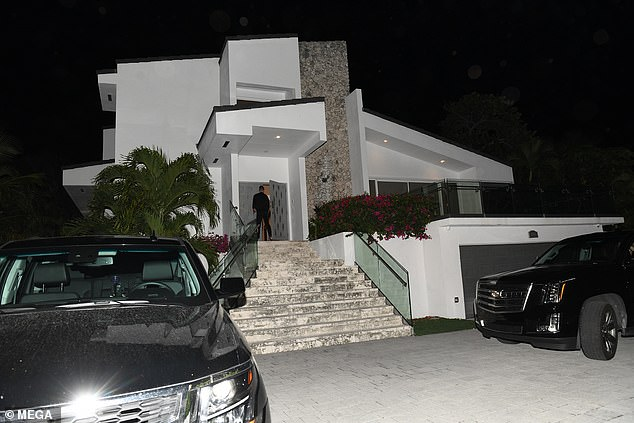 The MMA star's mansion in Miami Beach is pictured above