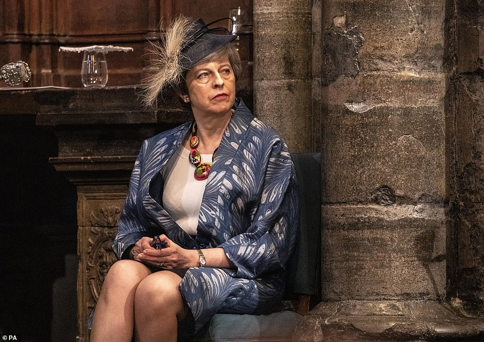 4.15pm - Prime Minister Theresa May looking glum shortly before she gives a reading at the Commonwealth Service at Westminster Abbey, London