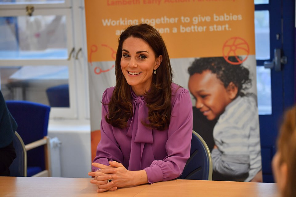 The mother-of-three appeared in good spirits as she sat down with staff to learn more about the services offered by LEAP