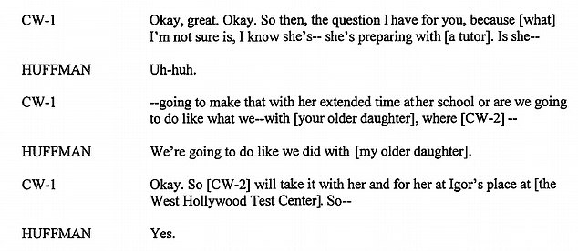 Plan: In one call from last year, Huffman revealed she planned to use the same system for her younger daughter (above) after it worked for her older daughter
