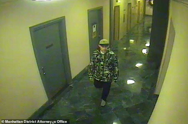 Footage from Covlin's Dorchester Towers home shows Covlin walking out of the elevator to get seltzer at 423am on December 31, 2009 which prosecutors claimed was to clean up evidence