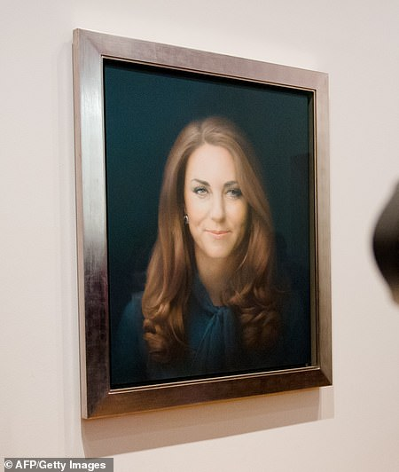 British artist Paul Emsley's portrait of the Duchess of Cambridge after its unveiling at the National Portrait Gallery in January 2013