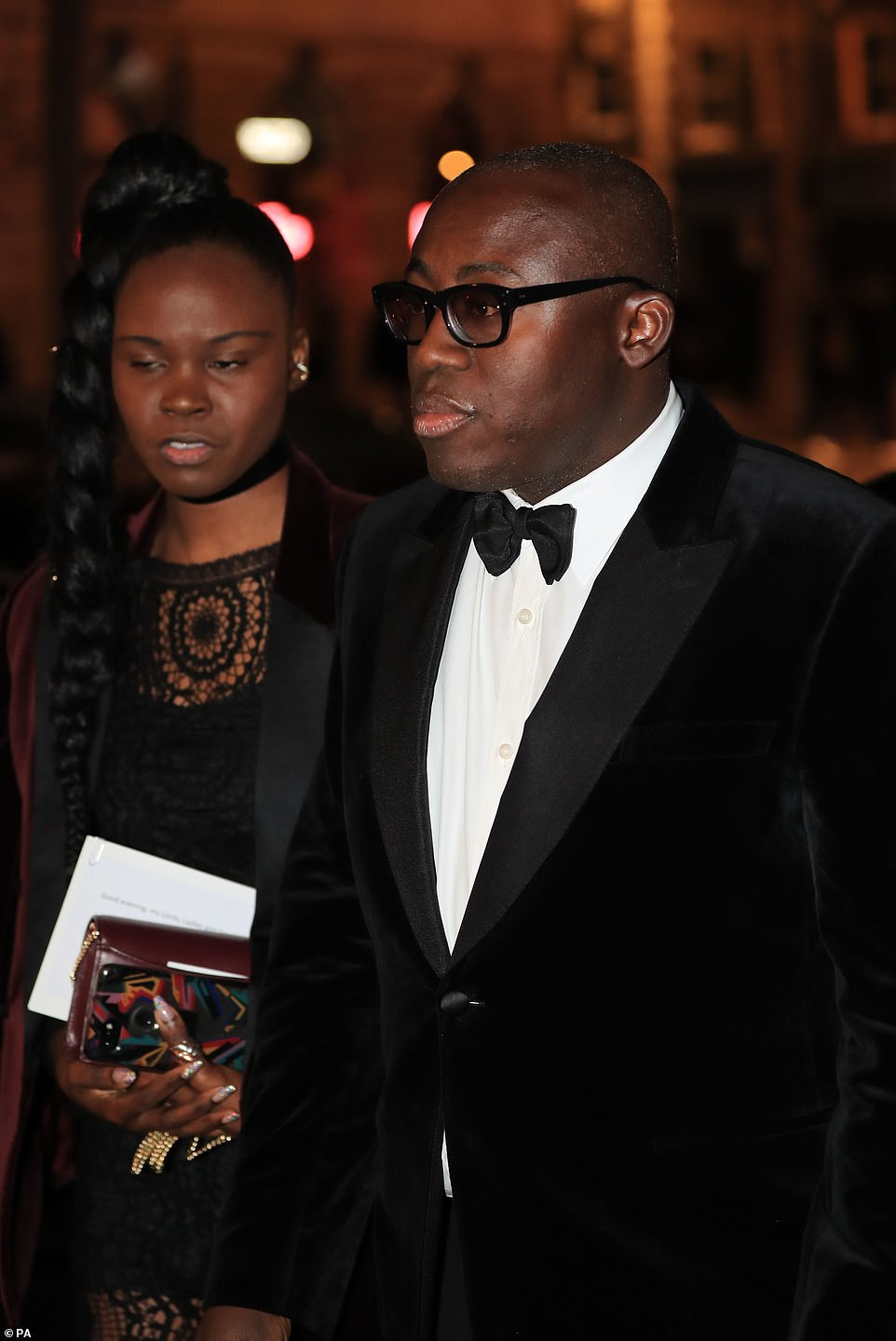 British Vogue editor Edward Enninful arrives for the 2019 Portrait Gala at the National Portrait Gallery in London, joining the likes of the Duchess of Cambridge and Princess Beatrice, who was there with her new boyfriend
