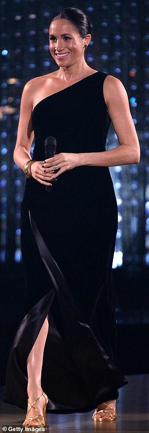 Gold standard: Tamara Mellon £420 sandals at December's Fashion Awards