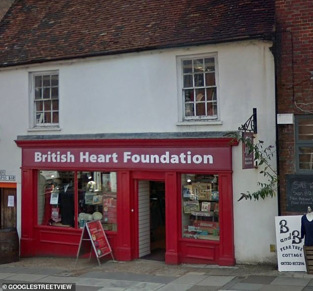 The charity shop in Midhurst (pictured above) where the record was spotted