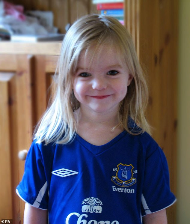 Madeleine McCann (pictured above) went missing while on holiday in Portugal with her parents