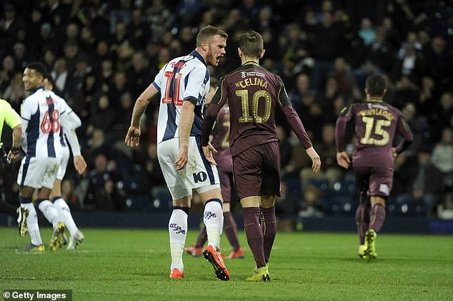 Defender Brunt wasted no chance to confront Celina following his embarrassing miss