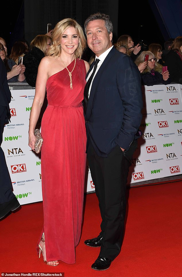 Smitten:John's appearance on the ITV show comes after Lisa revealed it was a 'complete surprise' when TV personality John got down on bended knee (pictured in January 2016)