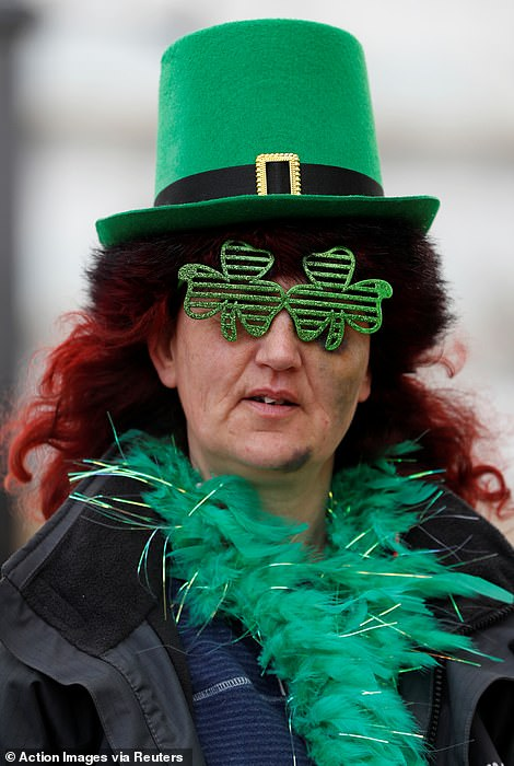 A craic-ing good effort! Many Cheltenham fans adopted the traditional St Patrick's Thursday dress code