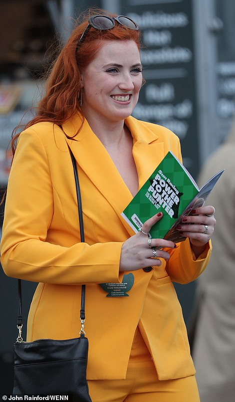 Bright colours were certainly the order of the day, with one racegoer opting for a mustard yellow suit