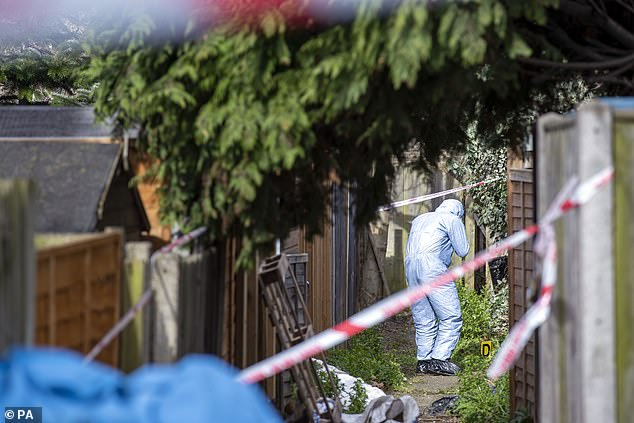 Forensic teams have been working in the back garden of the property where Laureline's body was discovered. She had been seen on CCTV at a Sainsbury's near her home on Saturday night