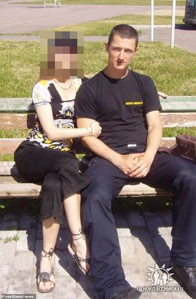 Belorusov (pictured) celebrated his birthday with friends in Tallinn, Estonia, on March 8, two days after the body of his ex-girlfriend was found in a shallow grave at her west London flat