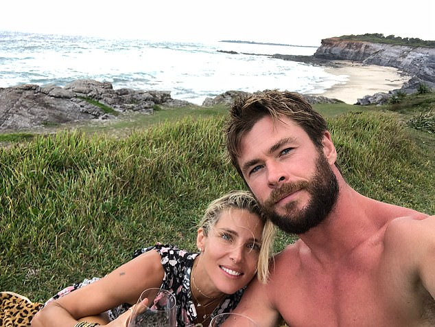 Byron locals: Chris and Elsa swapped the bright lights of Hollywood for a more relaxed life in Byron Bay, on Australia's east coast, five years ago