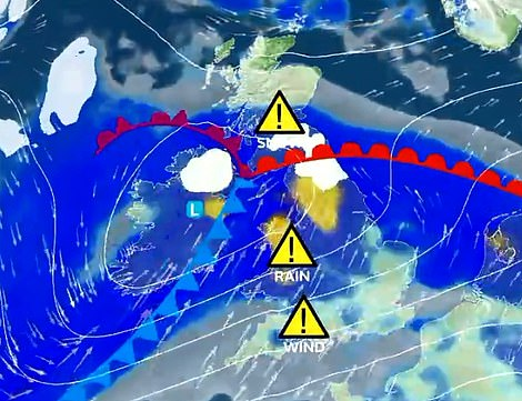 Stormy weather is expected this Saturday across the UK