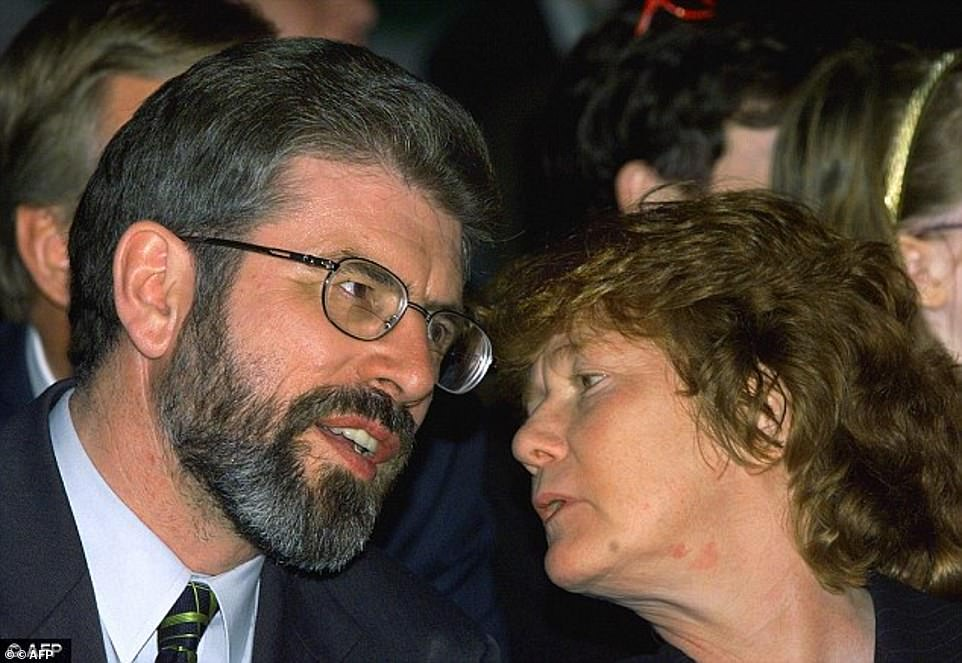 Rita O'Hare, pictured with Gerry Adams, went on the run after being charged over the attempted murder of British Army officer Frazer Paton in 1972