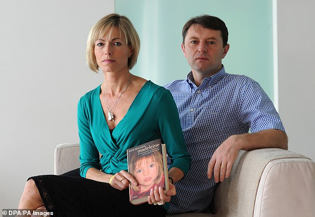 Parents of the missing girl, Kate and Gerry McCann, present their new book at a hotel in Hamburg