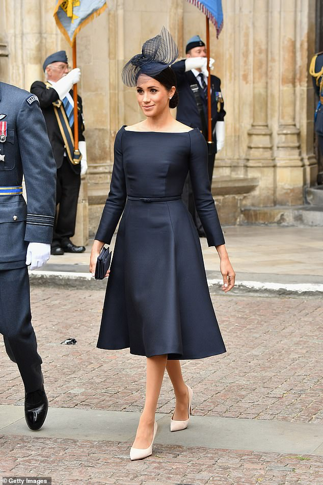 The Duchess of Sussex adores Dior and will gladly sport the brand from head-to-toe on several occasions, like on 10 July last year for the centenary of the Royal Air Force in London