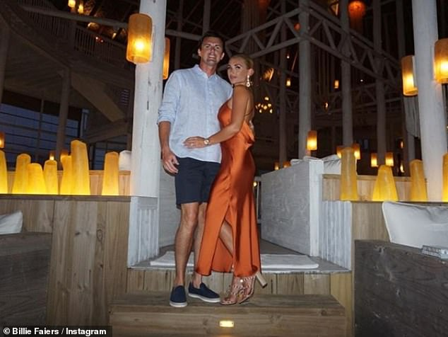 Couple:Billie and Greg, who share Nelly, four, and Arthur, two, wed in an idyllic ceremony last Tuesday on the island of Kuramathi after a five-year engagement