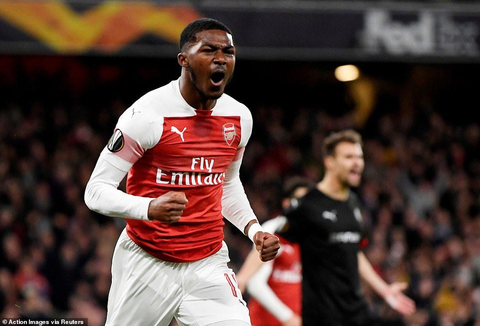 Arsenal's night got even better just nine minutes later whenAinsley Maitland-Niles made it 2-0 on the night
