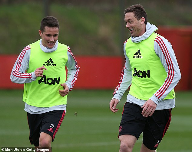 Ander Herrera (left) is hoping to feature against Wolves after suffering a hamstring injury