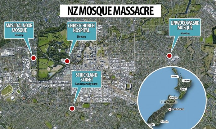 Three shootings have taken place in Christchurch on Friday afternoon, two at mosques and another at Christchurch Hospital