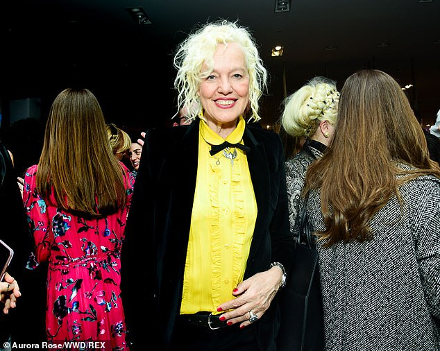 Making the rounds: Ellen von Unwerth, 65, arrived donning a yellow blouse with a black coat on top of it
