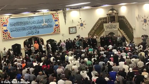 The prayers come just hours after the horrific Christchurch terrorist attack, yet the mood at the Lakemba mosque was sombre yet resilient