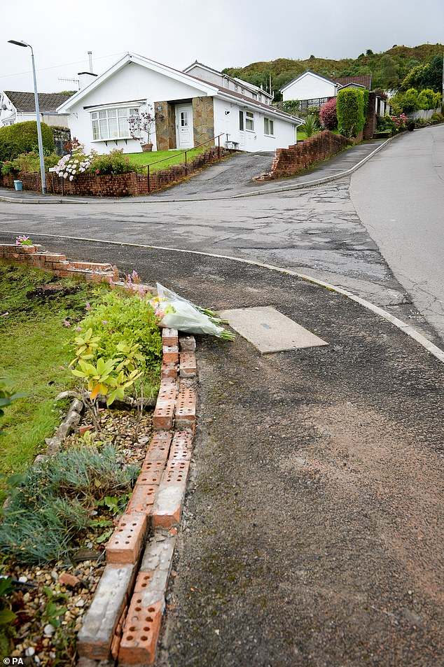 The 2.6 tonne Range Rover rolled down this hill and hit the toddler in August 2017