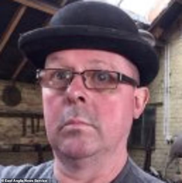 Baron Tremain (pictured), 54, allegedly attached the cheeky artwork at the top of a pole to annoy farm secretary Lisa, 42, and her accountant husband Jason