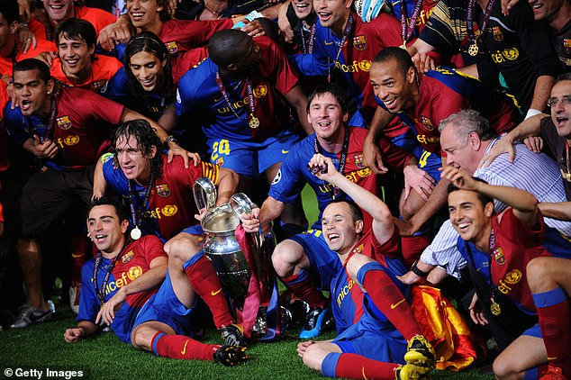 Barcelona won two recent Champions League finals against United in 2009 and 2011