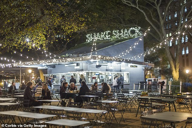 The original Shake Shack location in Madison Square Park in New York City