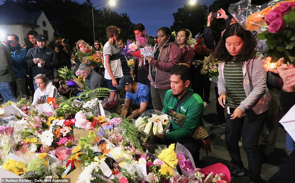 The number of tributes rose quickly as New Zealanders gathered to pay their respects. A remembrance ceremony will be held on Monday