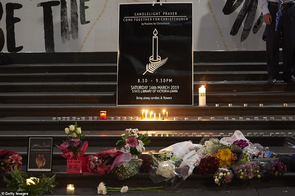 Prayers were read at the State Library of Victoria by imams on Saturday evening