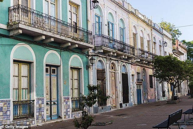 A typical street scene in Montevideo, Uruguay's charismatic capital city