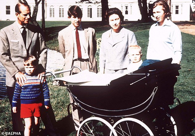 The Queen also used a Silver Cross pram for her family. She is pictured here with her husband Philip and children Charles, Anne, Andrew, and Edward