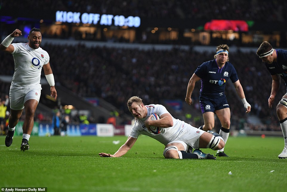 Ellis Genge set up Launchbury's try as the replacement prop embarked on a bull-dozing run before his beautiful offload