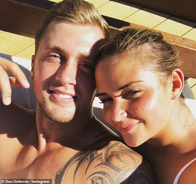 So sad: She is said to have dumped her husband Dan after reports made claims he shared a kiss with Love Island's Alexandra on a night out