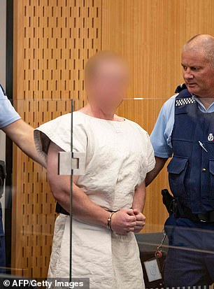 Brenton Tarrant is charged at Christchurch District Court on Sunday