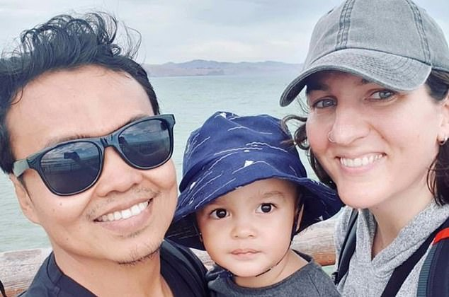 Seven people were shot at the Linwood Islamic Centre by Brenton Tarrant after he killed 42 people at the nearby Al Noor Mosque. Pictured,Zulfirman Syah with his son Averroes and wife Alta Marie