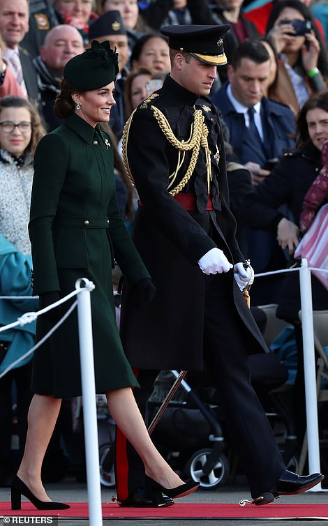 Kate and William arrive in Hounslow to honour the Irish Guards on St. Patrick's Day