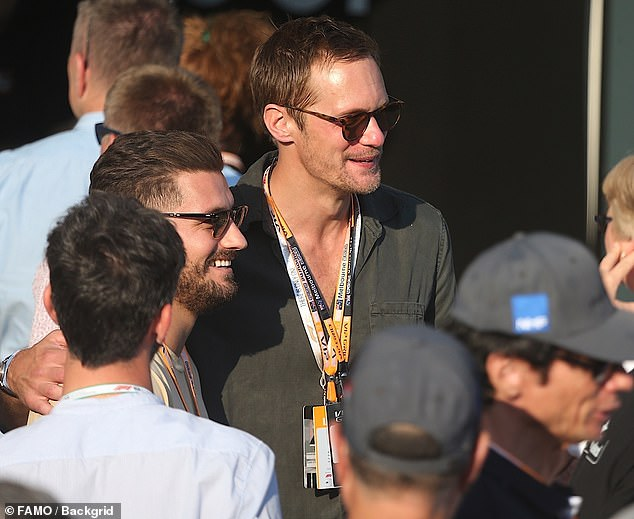 Working hard: The Swedish-born star is currently in Australia to film the upcoming blockbuster, Godzilla vs. Kong