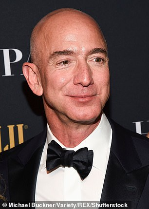 Gates has joined Amazon founder Jeff Bezos (pictured) in the centi-billionaire club of which they are the only two members