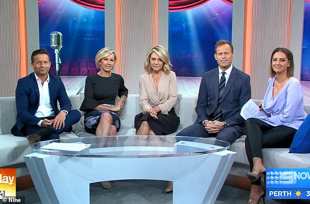 Struggling: The revamped breakfast show has struggled to find an audience, hitting record lows. Pictured (L to R): Stevie Jacobs, Deborah, Georgie, Tom Steinfort and Brooke Boney