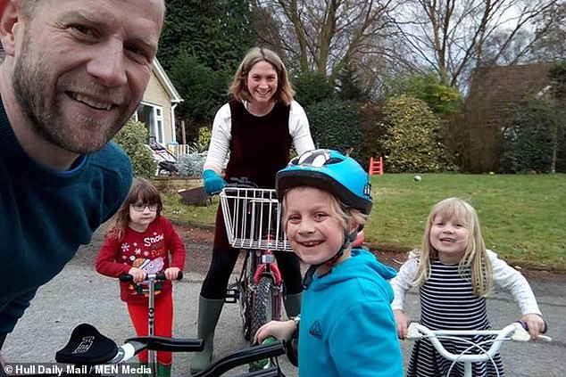 Chloe had been suffering 'a little bit of a cold', according to her father Adam, 42 (pictured with Adam, brother William, her mother Caroline and twin Charlotte)