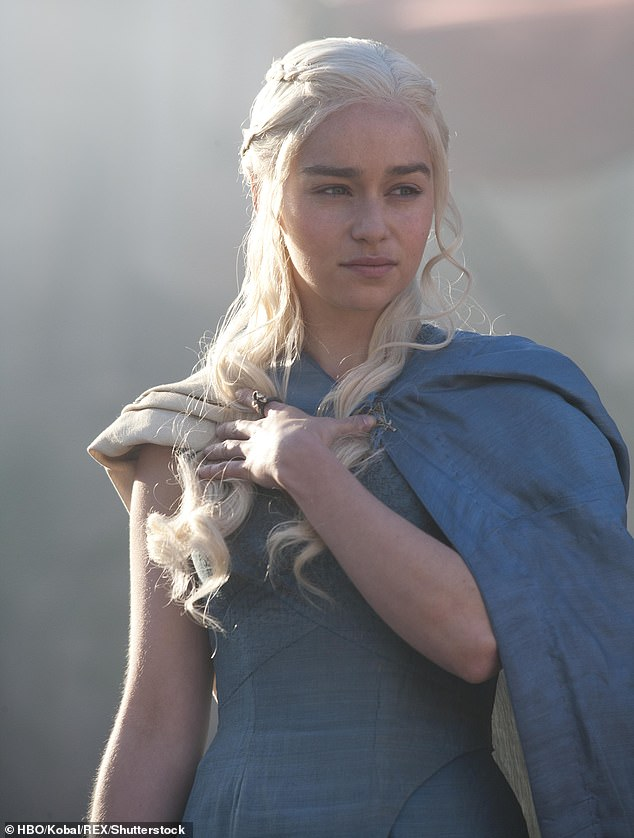 Health: The actress, 32, who plays 'Mother of Dragons' Daenerys Targaryen, shared in a candid interview with the The New Yorker that she had her first aneurysm in 2011 (pictured in character in GoT series one)