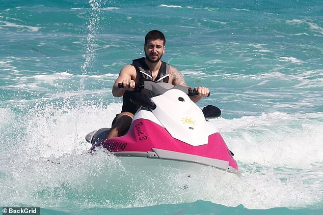 Start your engines! Vinny worked with the water bike through the water