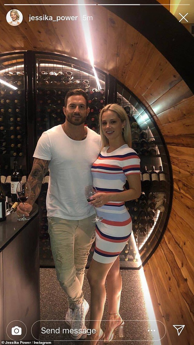 Instagram official! Married At First Sight's Jessika Power (right) and Daniel Webb (left) shared  a loved-up photo to Instagram Stories on Wednesday before mysteriously deleting it