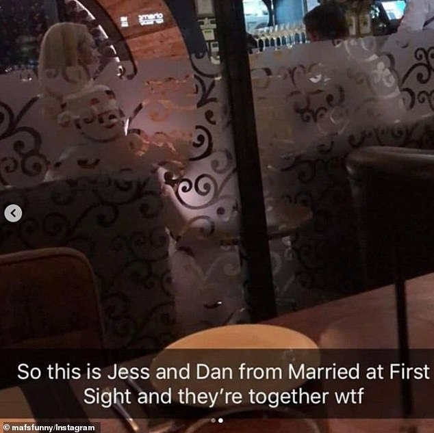 Busted! A Snapchat by an age-eyed fan surfaced on MafsFunny on Friday night, which showed the reality stars enjoying a moment alone on their date night