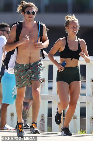 Exercise: That same day, the pair were seen going for a run from Sydney's Bondi to Bronte