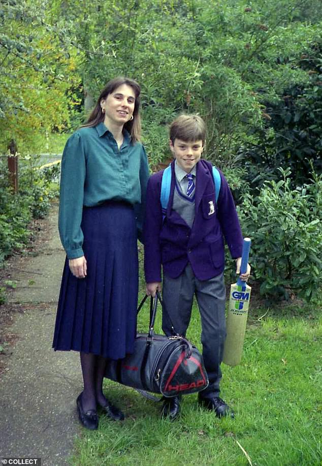 James Hamilton, pictured aged 11 with his retired teacher mum Janie, became addicted to cannabis when he was 14 years old and developed psychosis and depression